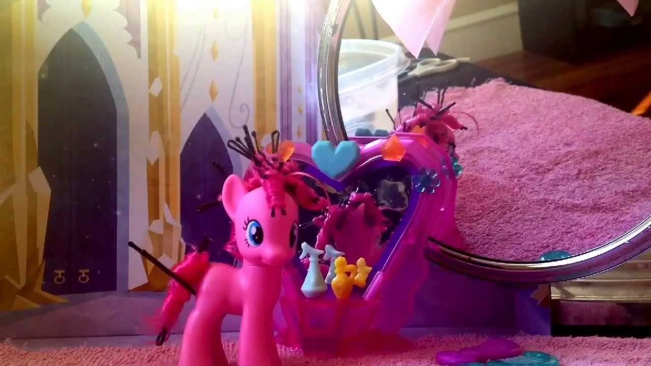 MLP Crystal Mane Salon: Styling Pinkie Pie tutorial video #1