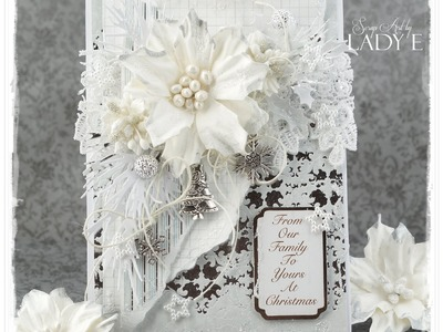 Monochrome Christmas Tutorial Card Wild Orchid Crafts DT