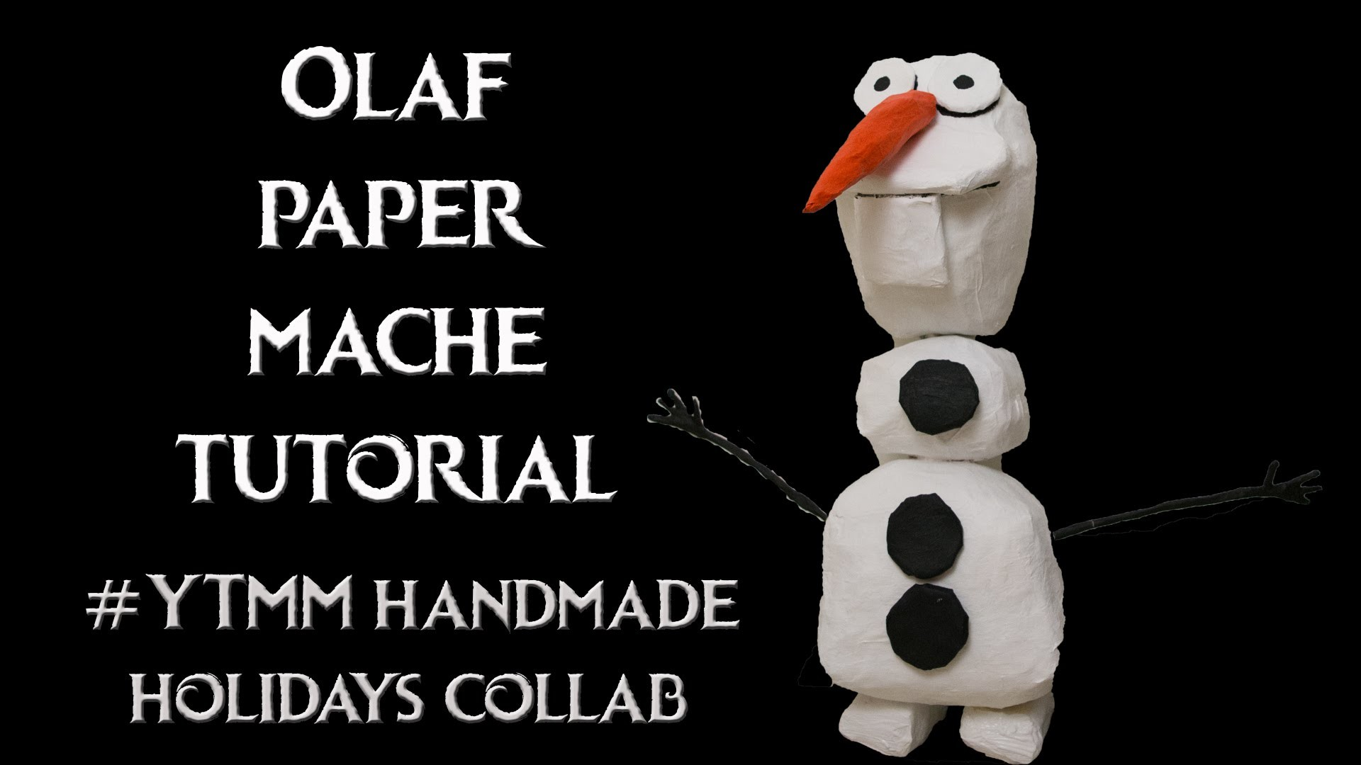 Olaf from Frozen paper mache tutorial #YTMM Homemade Holidays collab Dutchy Daily Vlog 104