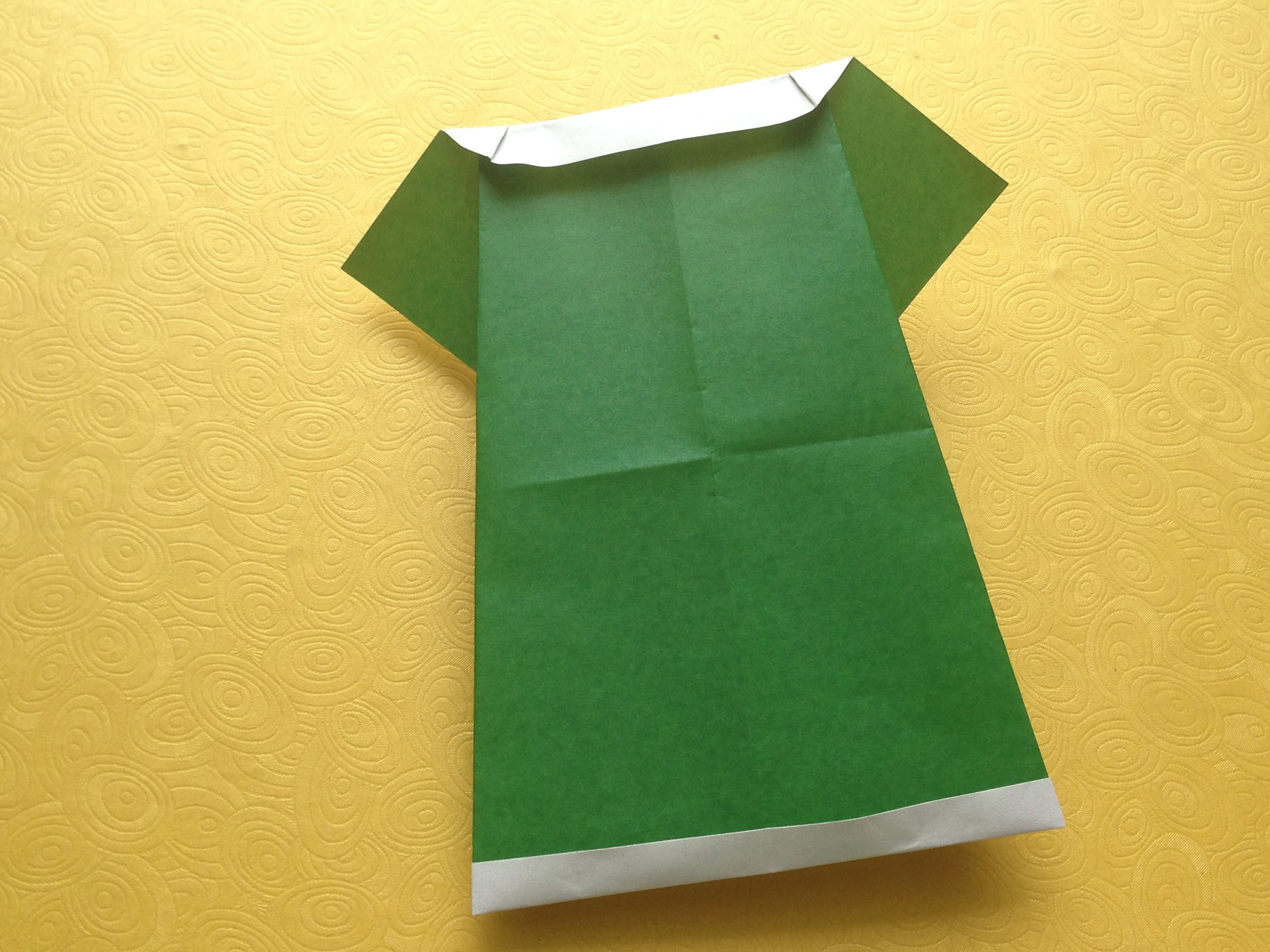 Origami Easy Dress Tutorial - Origami For Beginners