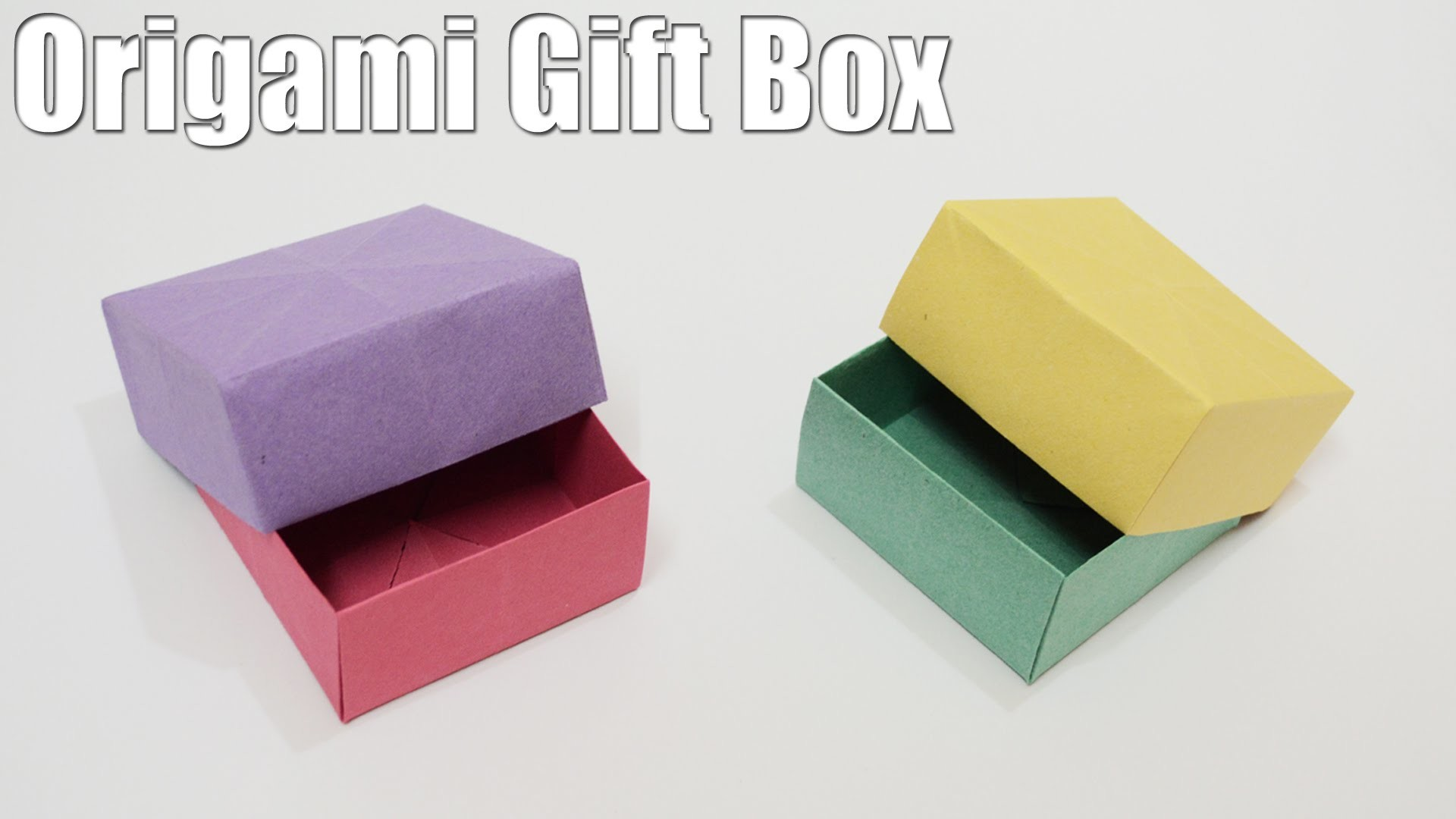 Origami Gift Box - Tutorial (Easy)