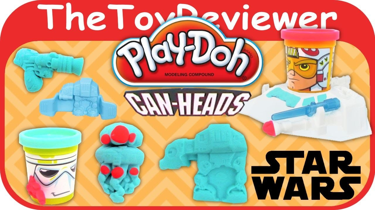 Play-Doh Star Wars Luke Skywalker and Snowtrooper Can-Heads Tutorial Review by TheToyReviewer