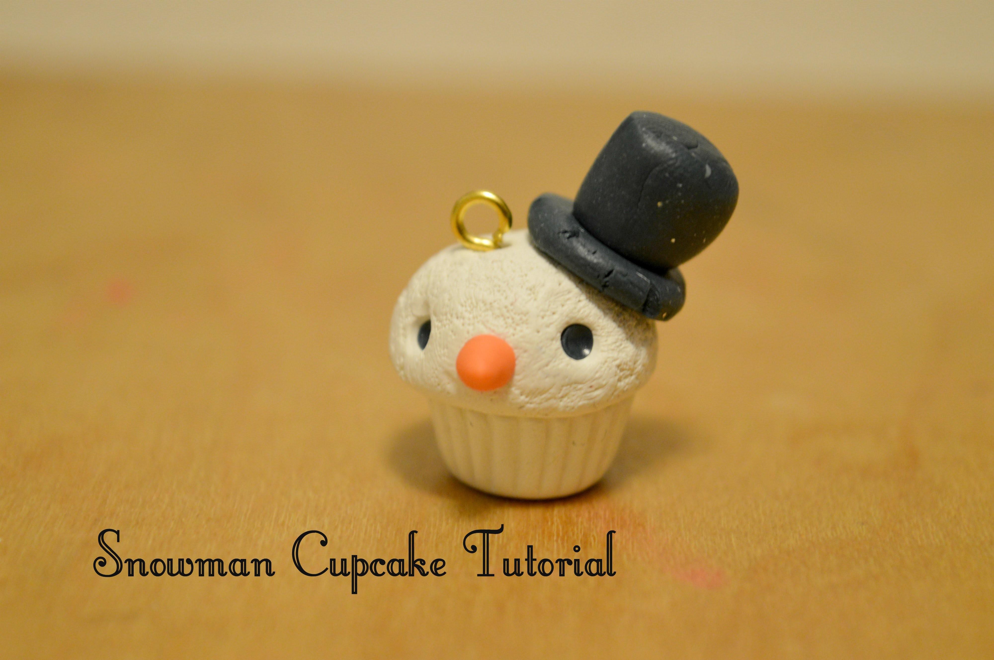 Polymer Clay - Snowman Cupcake Tutorial Collab w. AmazinCrafts!!! ♥