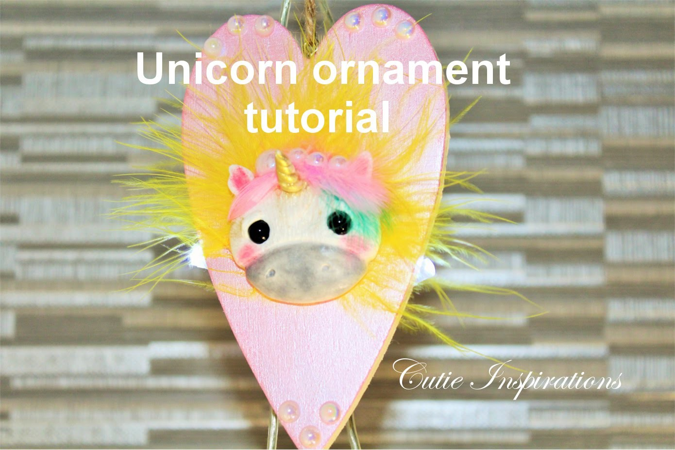 Polymer clay unicorn ornament tutorial