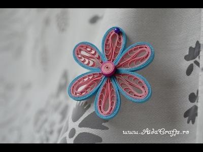 ✿ Quilling - Tutorial 14 - Floare - AidaCrafts