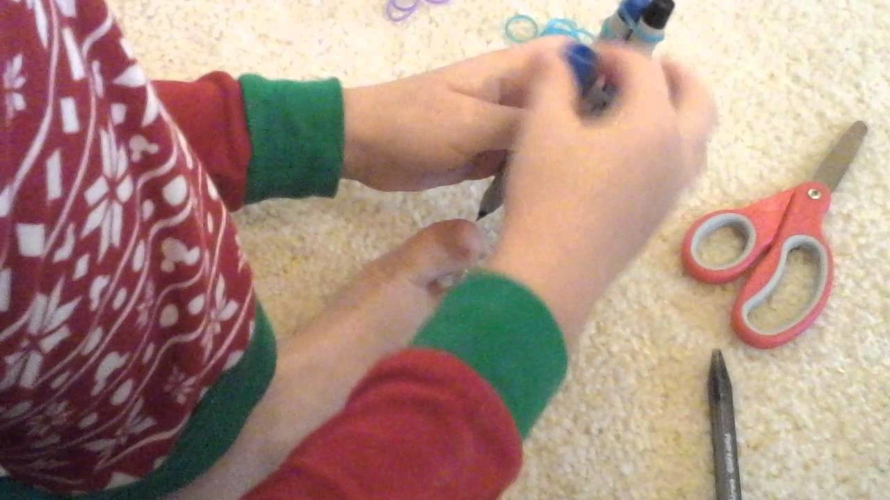 Rainbow Loom Tutorial: Combination Fishtail & Single Chain Bracelet. Loomless!
