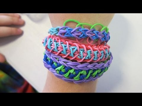 Rainbow Loom Tutorial - Laced Up