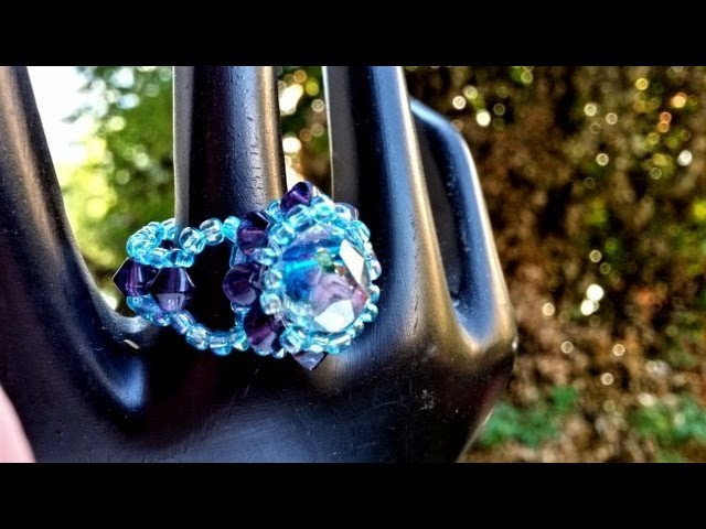 Ring made with beads - tutorial handmade jewellery