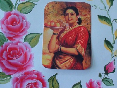 Rose painting tutorial for a picture frame - tutorial 4