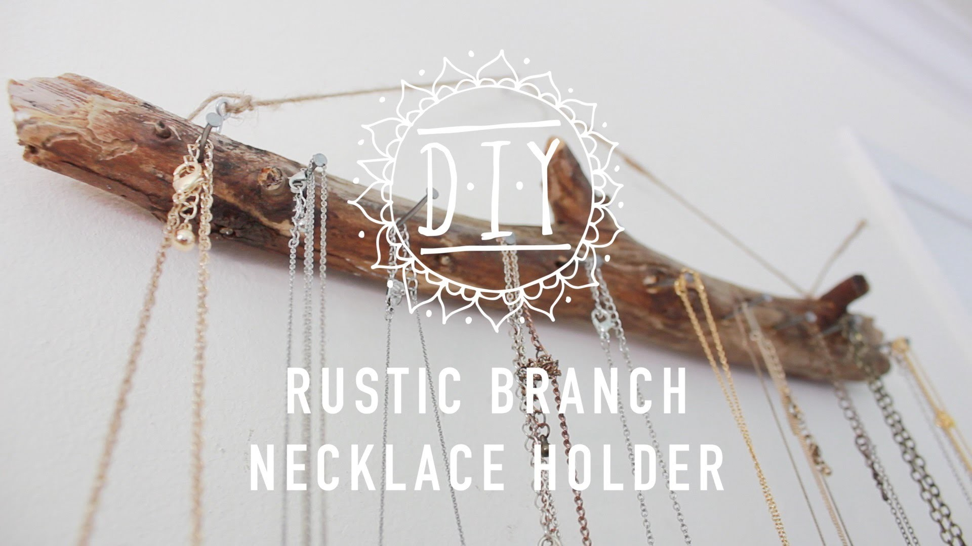 Rustic Branch Necklace Holder Tutorial