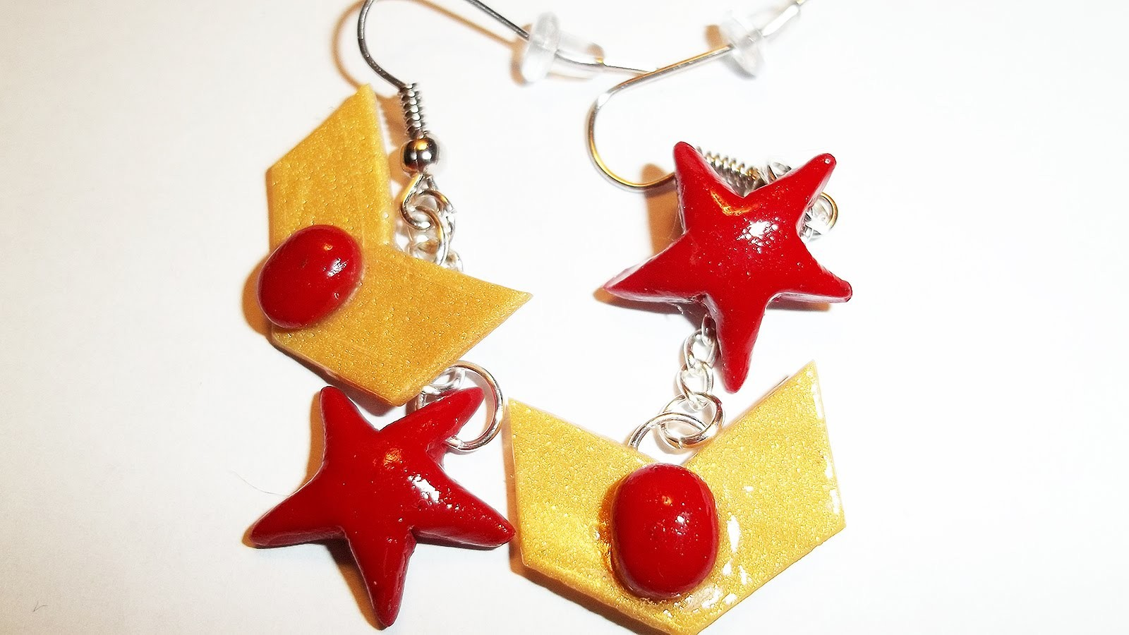 Sailor Moon.Mars Inspired Earrings ~ Clay Tutorial
