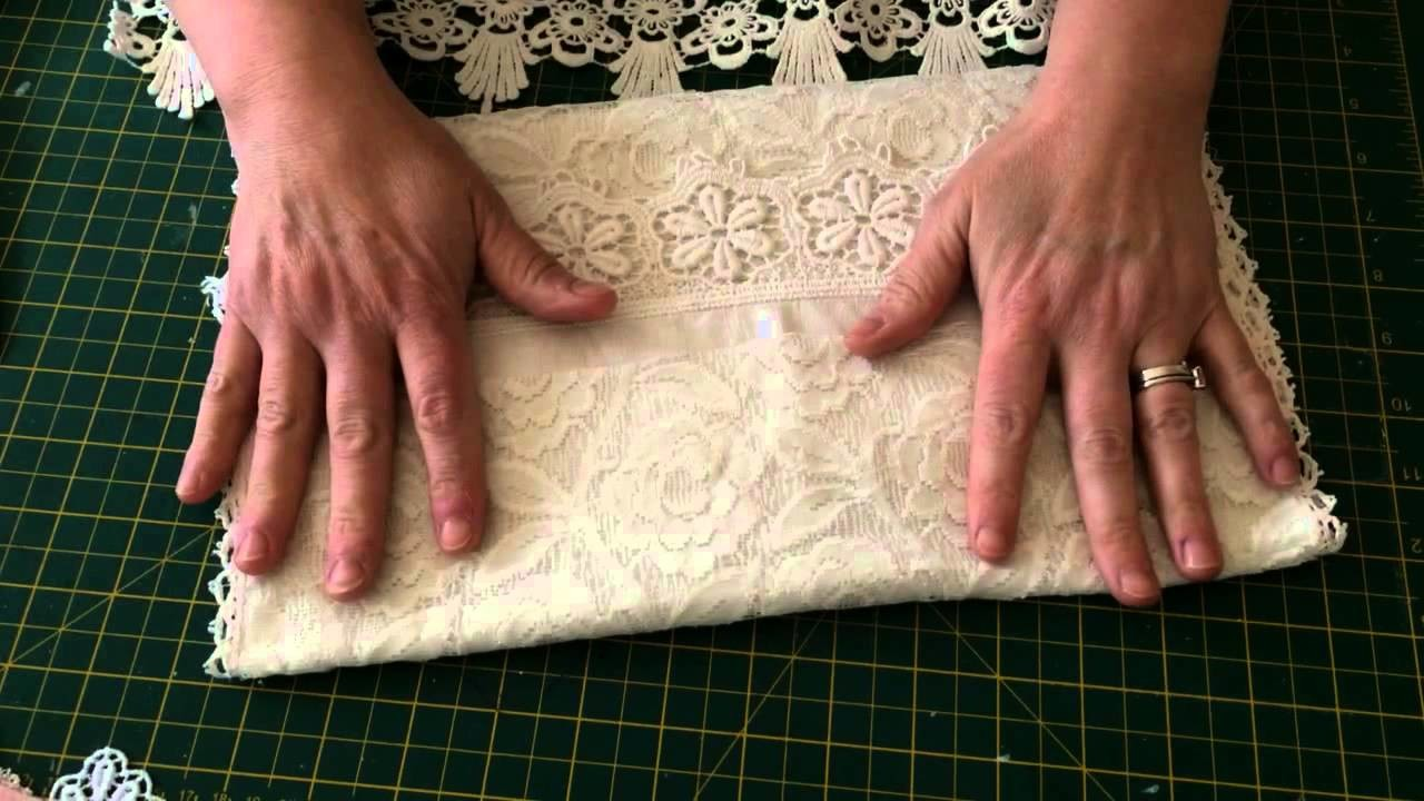 Shabby chic fabric pouch tutorial pt1