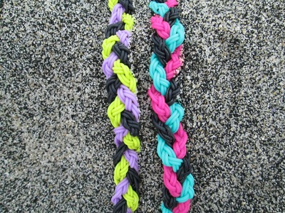 Strand Bands Triple Single Braid Bracelet. New Tutorial.