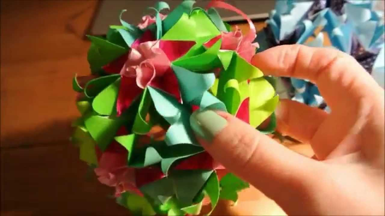 Sweet Spring Kusudama - not a tutorial