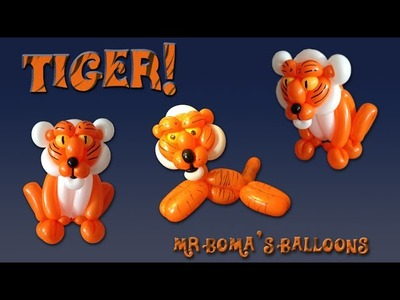 Tiger Balloon Animal Tutorial (Balloon Twisting and Modeling #24)