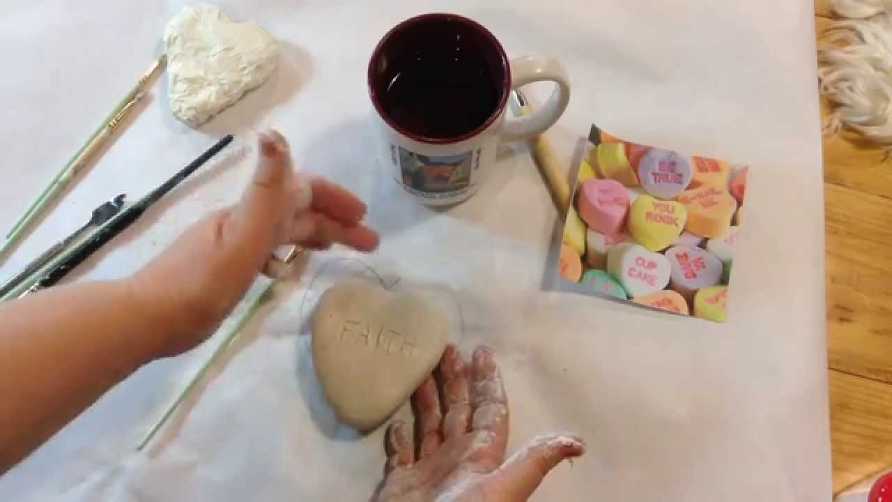 Tuesday Tutorial - Sculpting Paperclay Candy Hearts