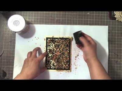 Tutorial: Gilded Backgrounds Using Die Cuts and Stencils