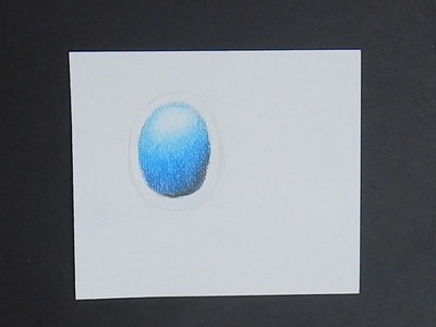 Tutorial: How to Draw Blue Jewel on White Tile.Paper