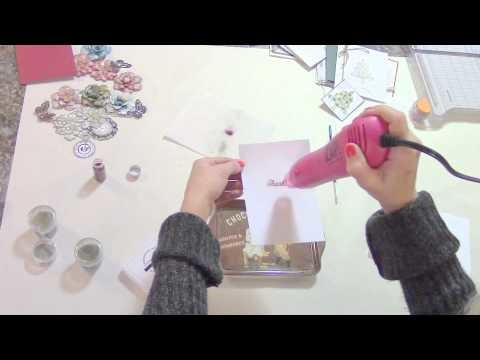 TUTORIAL - LEARN TO HEAT EMBOSS ON CARDS, FLOWERS, AND MORE - Designs by Shellie