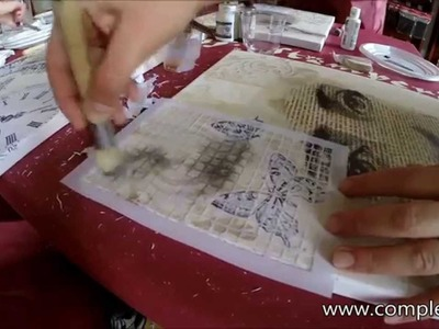 Tutorial - Mixed Media - Stamperia & Complex Art