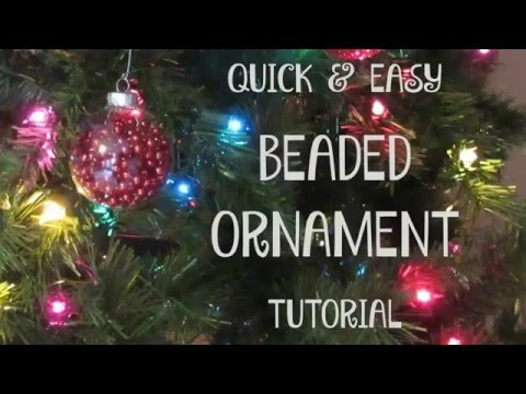 Very Easy BEADED CHRISTMAS ORNAMENT Tutorial #withcaptions