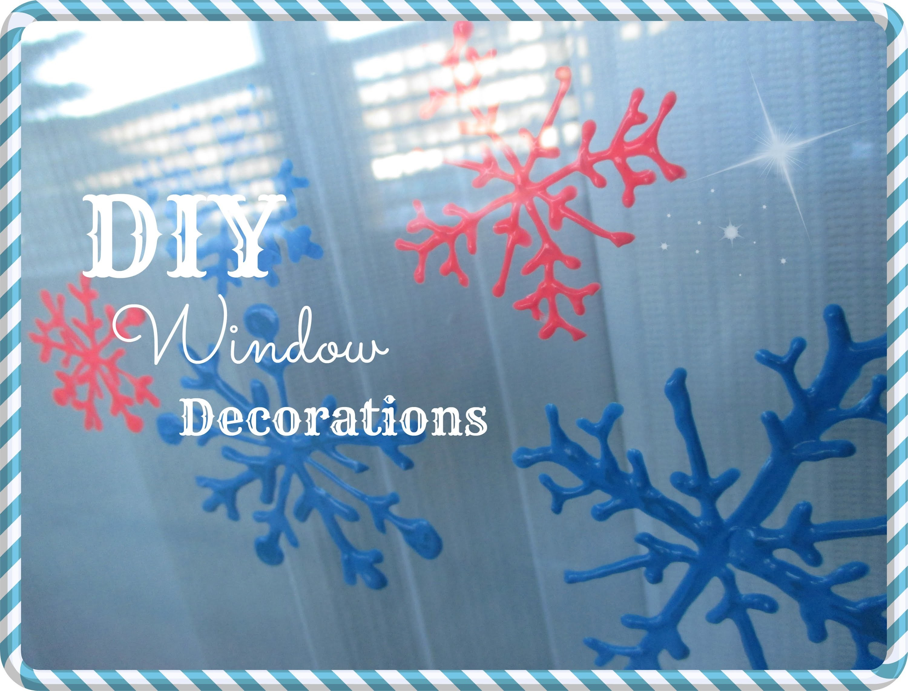 VLOGMAS  Day 2: DIY Window decorations