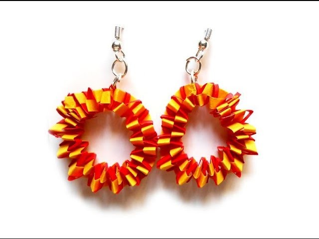 Weaving Earrings | quilling papers earring making tutorial - Handicrafts