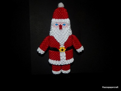 3D origami Santa Claus tutorial part 2