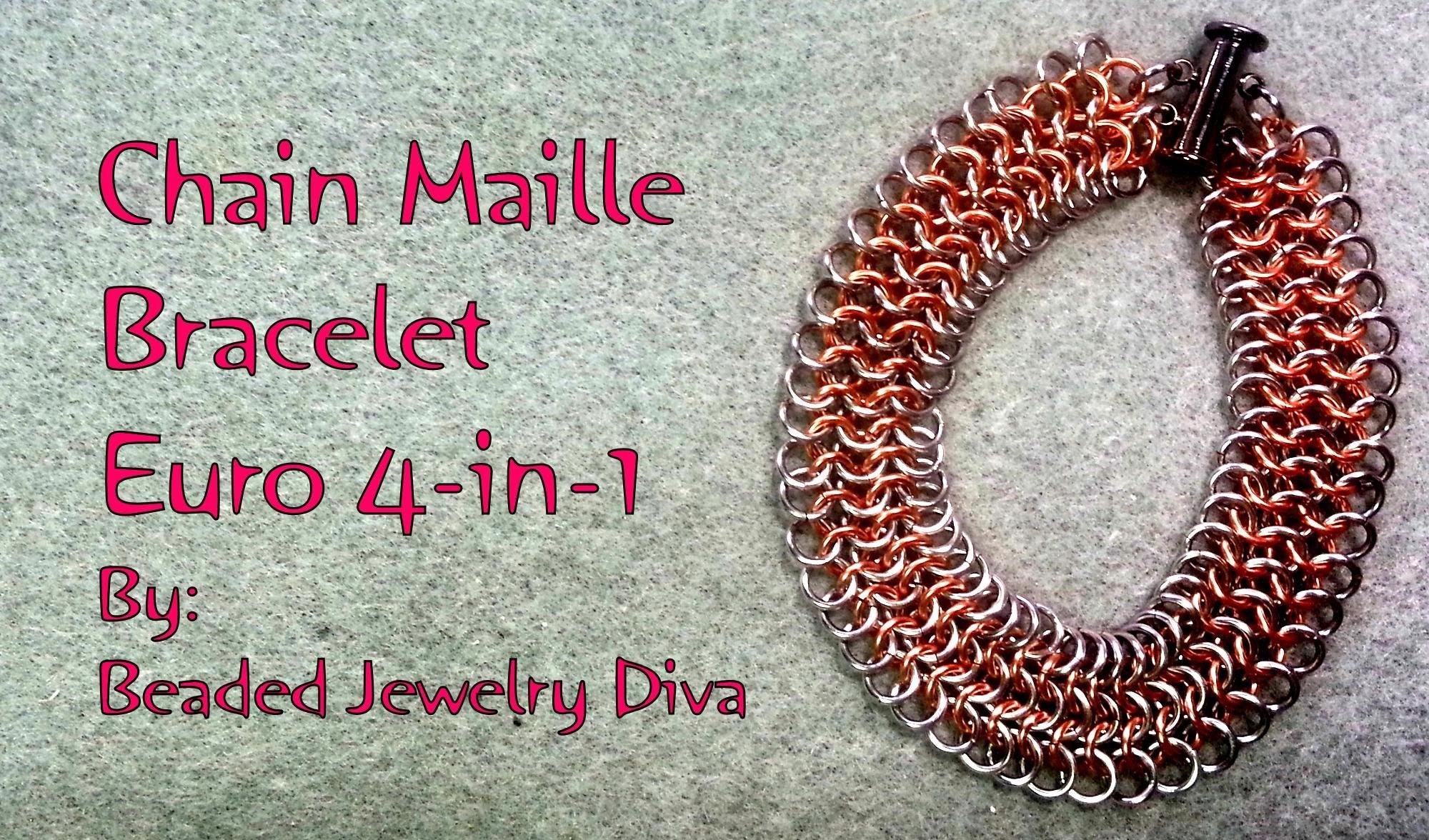 Chain Maille Bracelet Tutorial - European 4-in-1 Weave