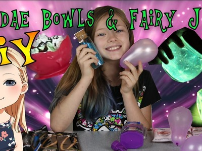 DIY Edible Chocolate Sundae Bowls ~ DIY Glow In The Dark Fairy Jars!
