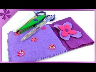 DIY Felt pencil case (ENG Subtitles) - Speed up #176