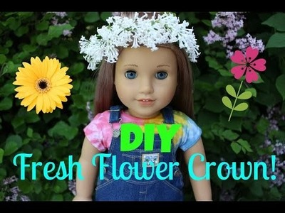DIY Fresh Flower Crown for your American Girl Doll!