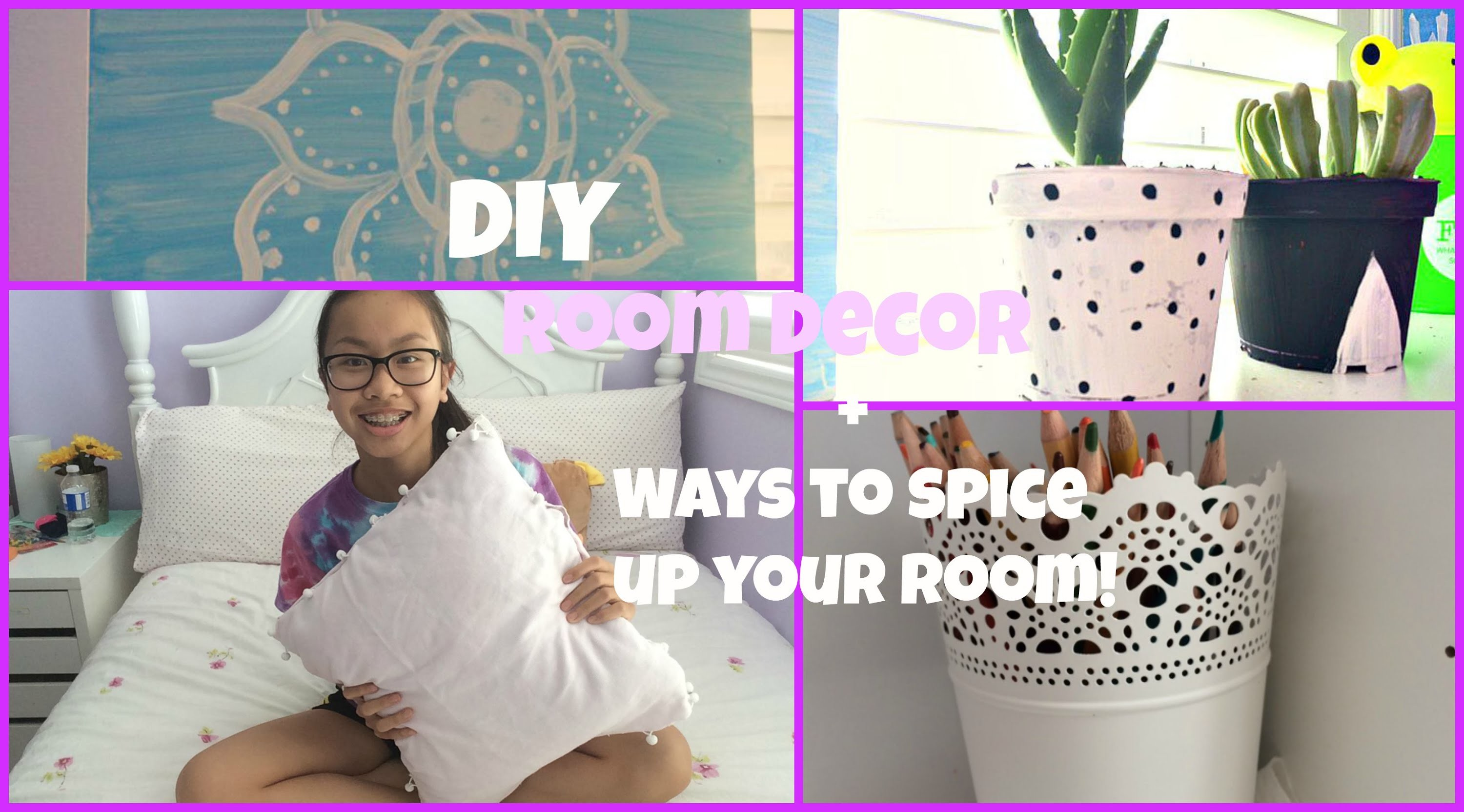 Diy room decor+ways to spice up your room!