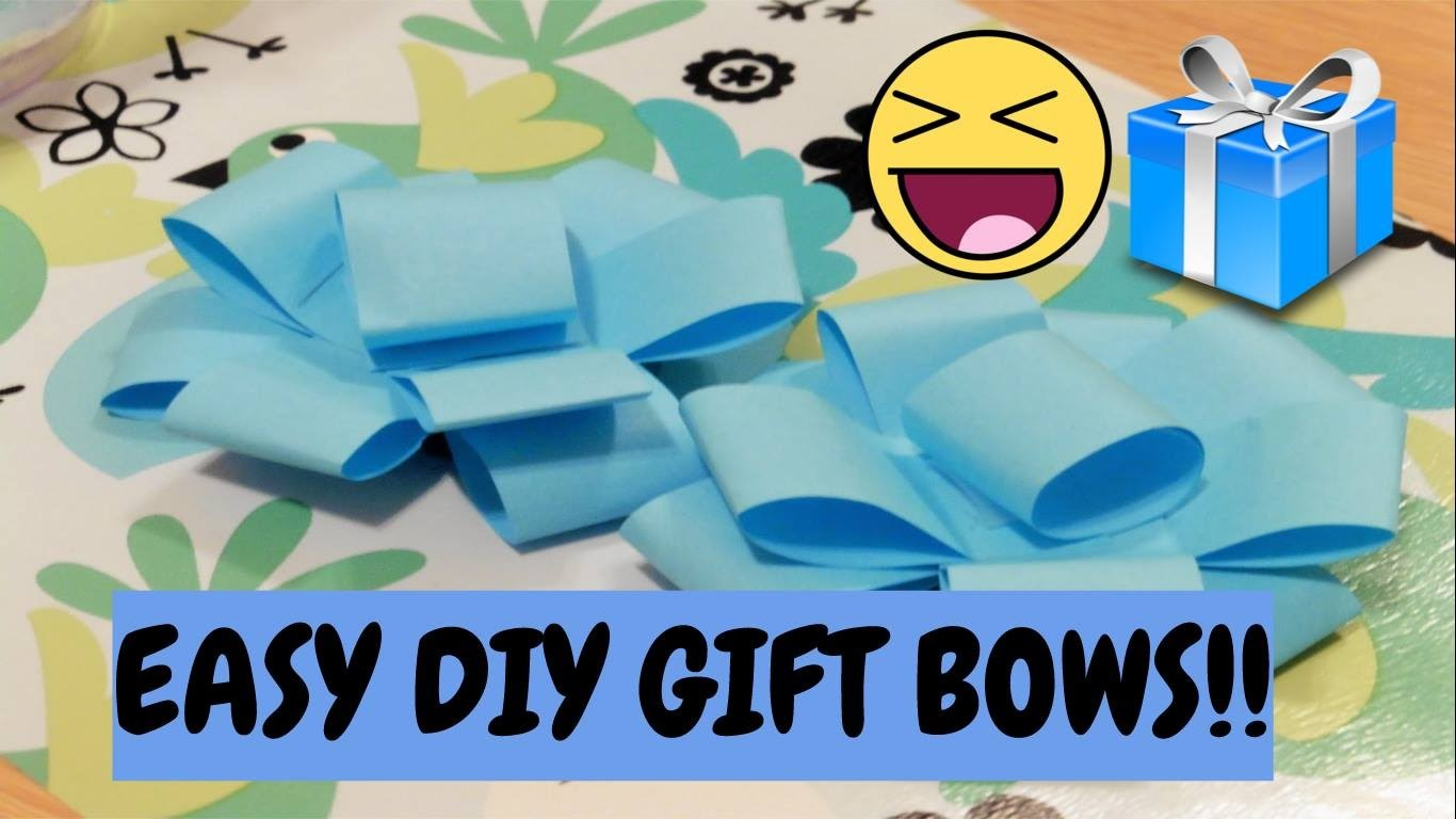 DIY Super Easy Gift Bow (Made with Post-its!)