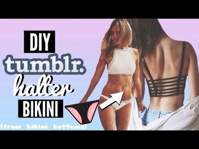 DIY Tumblr Halter Bikini From Bikini Bottoms
