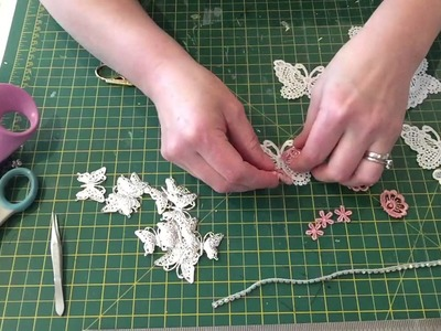 Easy lace butterfly embellishment tutorial