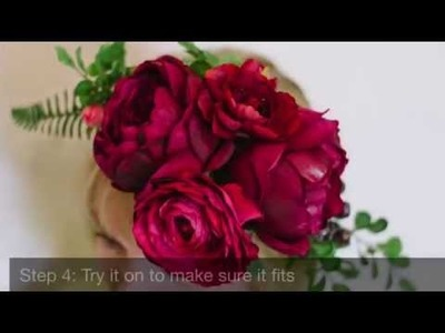 Flower Crown  - Learn How to Make a DIY Floral Crown with Silk Flowers
