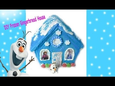 Frozen Gingerbread House - DIY Disney Frozen Inspired Holiday Craft  Queen Elsa & Anna Stickers
