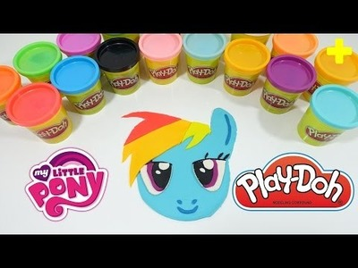 GIANT Play-Doh MY LITTLE PONY RAINBOW DASH Surprise Egg Decoration - DIY Play-Doh Challenge!