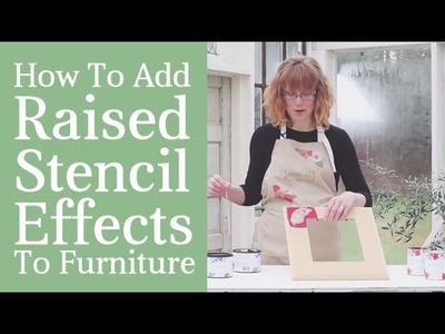 How To Create Raised Stencil Effects With Embossing Plaster- Tutorial & Techniques