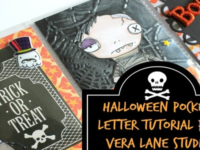 How To: Halloween Pocket Letter Tutorial Ft. Vera Lane Studio