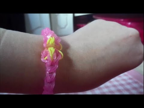Loom band tutorial:Aurora(sleeping beauty)bracelet
