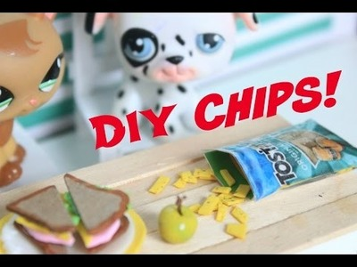 LPS DIY How to make miniature food for LPS | chips and bag | How to make doll food