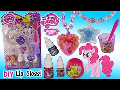 My Little Pony DIY Lip GLoss Jewelry Kit! Make Flavored Colors! Ring Necklace Bracelet! FUN