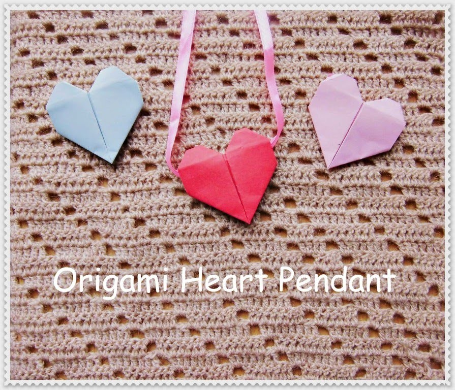Origami Heart Pendant Tutorial