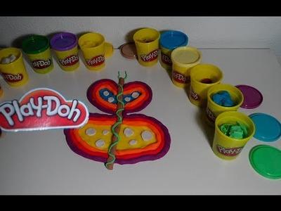 Plastilina Play-Doh Mariposa de colores - DIY