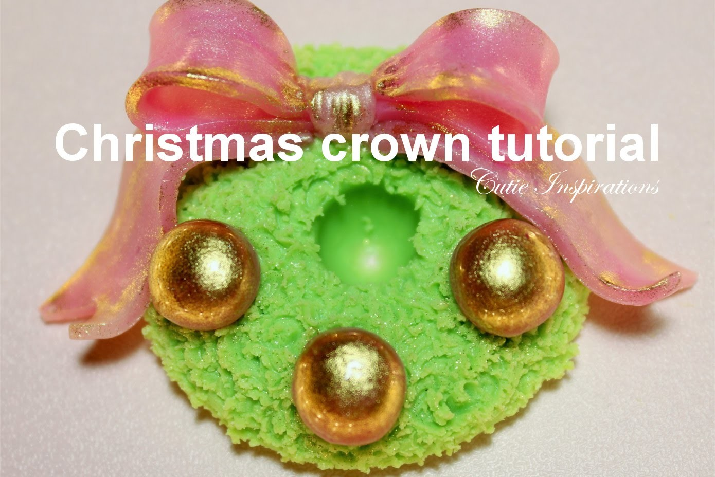 Polymer clay Christmas crown tutorial