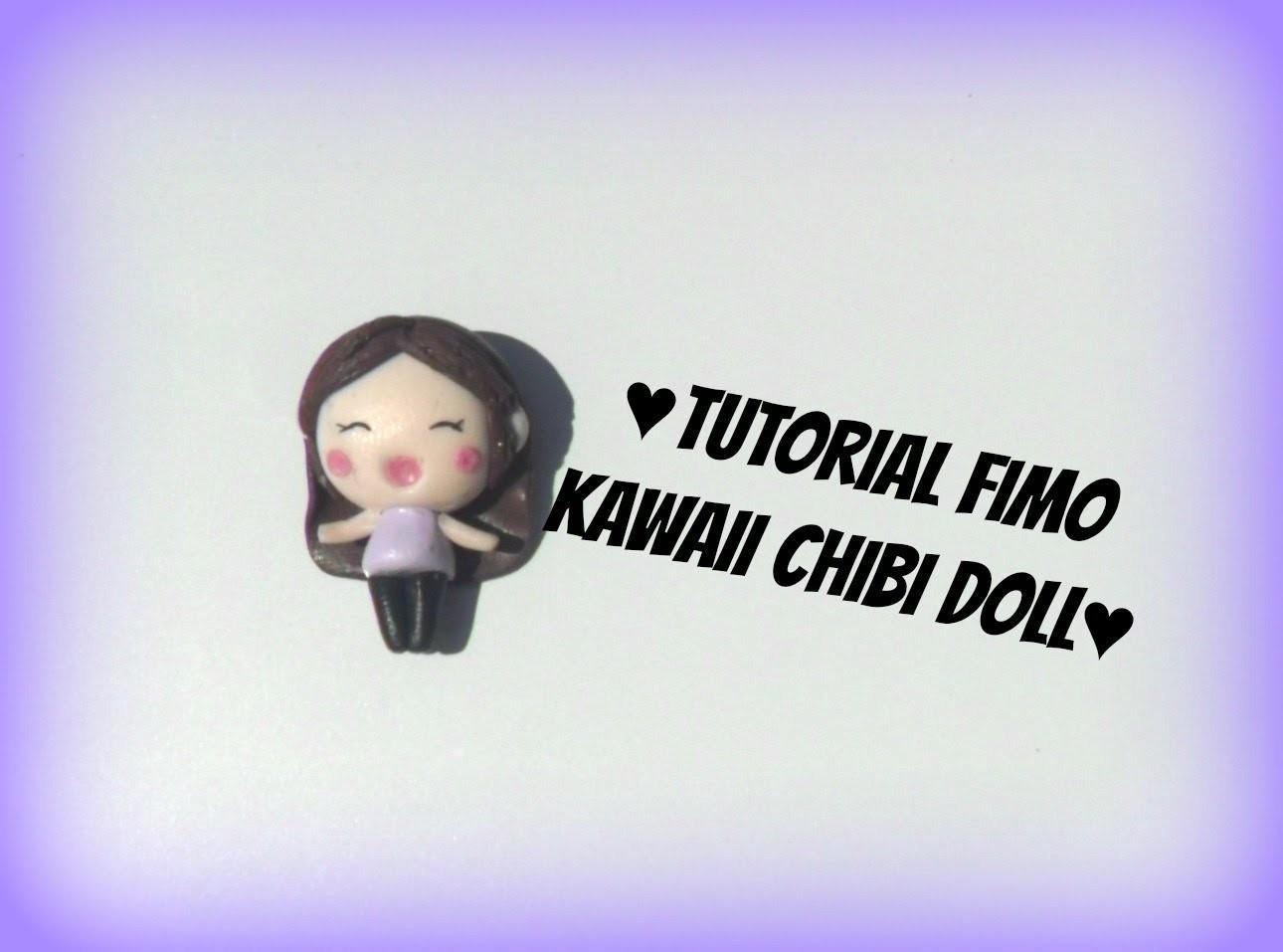 Polymerclay tutorial kawaii chibi doll-Tutorial fimo bambolina kawaii