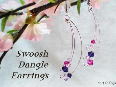 Swoosh Dangle Earrings Video Tutorial