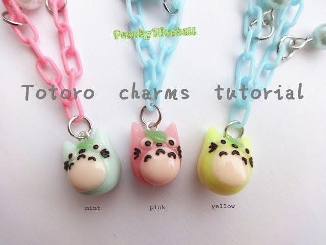 Totoro polymerclay charm tutorial